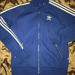Adidas Blue Track Jacket Medium
